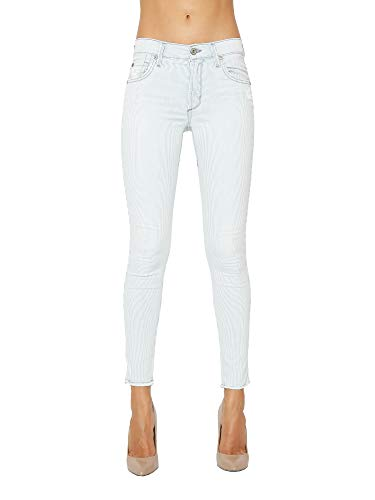 James Jeans Women's Mid Waisted Ankle Length Skinny Jeans Twiggy in Sailor Stripes Size 27