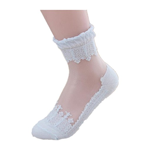 Nice Women's Socks Neartime Ultrathin Transparent Socks Beautiful Crystal Lace Elastic Short Socks supplier