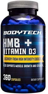 HMB + Vitamin D3 Supports Muscle Growth and Strength (360 Vegetable Capsules)
