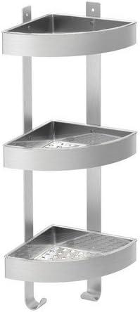Accessori Per La Doccia Ikea.Ikea Scaffale Per Doccia Grundtal Angolare Acciaio Inox 3 Ripiani 26 X 58 Cm Amazon It Casa E Cucina