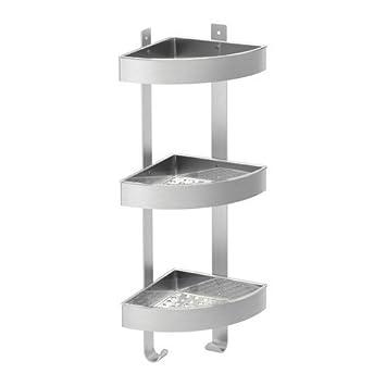 Ikea Grundtal Etagere Dangle En Inox Pour Mur De Salle Bain 3 Compartiments