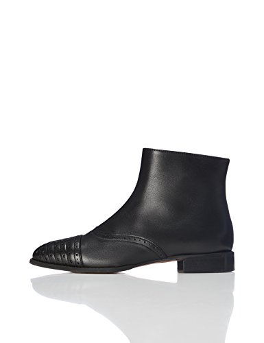 Black in Pelle Nero FIND Stivaletti Donna Brogue qZYfSY