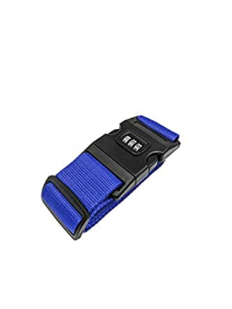 Luggage Strap Code Password Travel Suitcase Secure Lock Safe Nylon Packing Belt - Blue