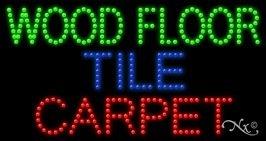 Wood Floor Tile Carpet LED Sign (High Impact, Energy ()