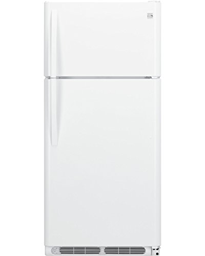 Kenmore 60502 18 cu. ft. Top Freezer Refrigerator with Glass Shelves in White, includes delivery and hookup (Available in select cities) by Kenmore