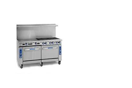 Imperial Commercial Restaurant Range 72'' Griddle With Standard Oven/Cabinet Propane Ir-G72-Xb by Imperial