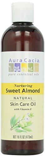 Aura Cacia Natural Skin Care Oil, Sweet Almond, 16 oz
