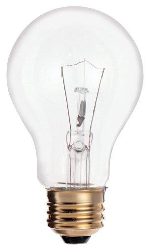 Satco S6040 25 Watt 185 Lumens A19 Incandescent Soft White 2700K Clear Light Bulb, 2-Pack - 2 Pack Incandescent Light Bulb