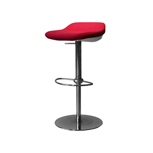 ZJⓇ Bar chair Bar Stool High Stool ABS Can Be Raised and Lowered ABS Plastic Sponge Cloth Cushion/Sitting Height 64-83cm/red