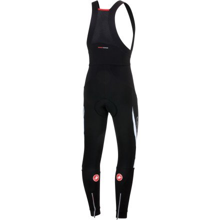 Castelli Sorpasso Wind Bib Tights - Men's Black/White, L by Castelli (Image #1)