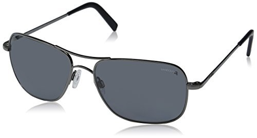 (Randolph Men's Archer Polarized Square, Dark Ruthenium Polished, 59 mm)