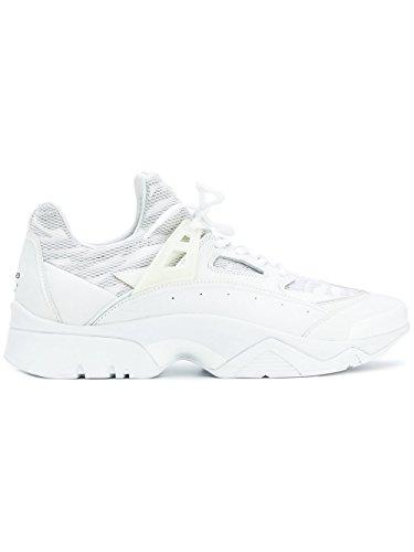 Kenzo Bianco Sneakers Uomo Kenzo Pelle Sneakers F765SN350F5401 axnRwx05q