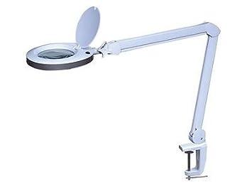 Mesa - lámpara de mesa con lupa 8 dioptrías - 8 W 80 LEDs, brazo ...