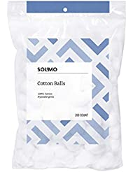 Amazon Brand - Solimo Cotton Balls, 200ct (Pack of 1)