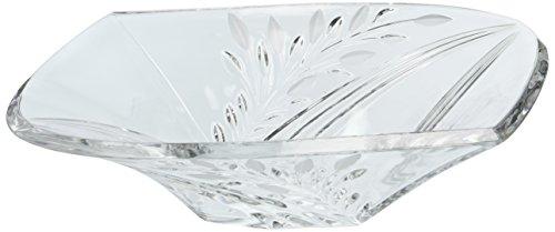 Dale Tiffany GA80035 Clear Leaf Decorative Crystal Bowl, 13-1/4-Inch by 3-1/4-Inch
