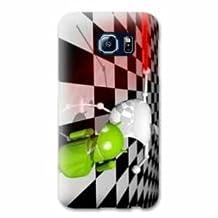Case Samsung Galaxy S6 EDGE apple vs android - damier B