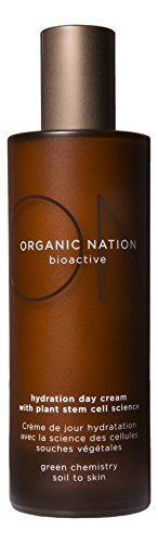 Organic Nation - Hydration Day Cream, Daily Moisturizer & Plant Stem Cell Cream with Indian Gentian Leaves, Kakadu Plum, Jojoba Oil, Argan Oil,Regenerative Action, Natural & Organic, 100ml (3.4oz)