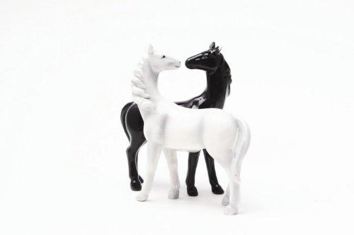 Horses Kiss Magnetized Salt and Pepper Shaker - Horse Kisses