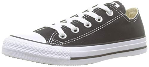 Converse Unisex Chuck Taylor All Star Low Top Black/White Sneakers - US Men 6 / US Women 8 (Chuck Taylor Womens Converse)