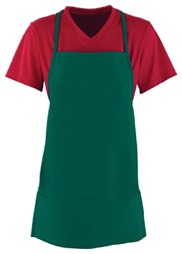 Augusta Sportswear Center Divided Pouch Pocket Apron, DARK GREEN, One (Divided Pouch)
