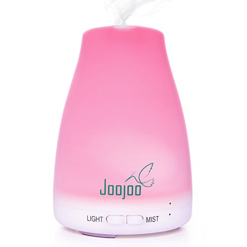 Aromatherapy Essential Oil Diffuser By JooJoo - 7 Color LED Night Light & Cool Mist Humidifier For The Bedroom Or Office 120 mL Image