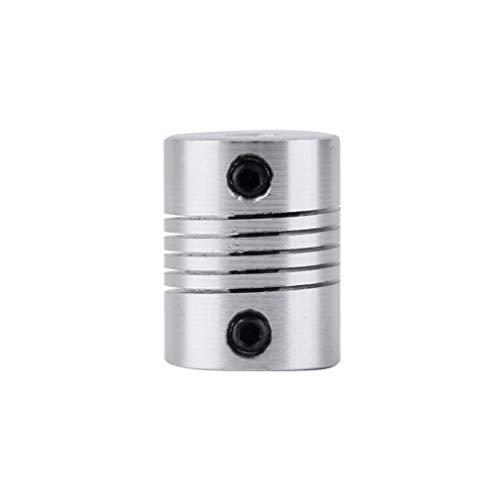 Foreverharbor 5x5mm CNC Profesional del Motor del Eje de mandíbula acoplador de 5 mm a 5 mm de Alta precisión de Aluminio...