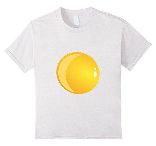 [Kids Deviled Egg Fried Egg Halloween Costume T-shirt 4 White] (Do It Yourself Halloween Costumes For Girls)