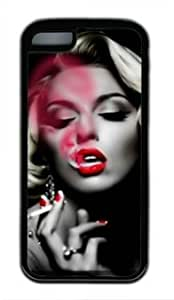 Famous Actress Marilyn Monroe Smoking DIY Rubber Black iphone 5C Case Perfect By customizationhere