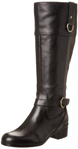 Bandolino Frauen Chamber Runder Zeh Leder Fashion Stiefel Black Leather