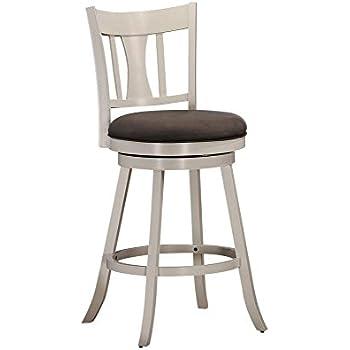 Amazon Com Acme Tabib White Bar Chair With Swivel