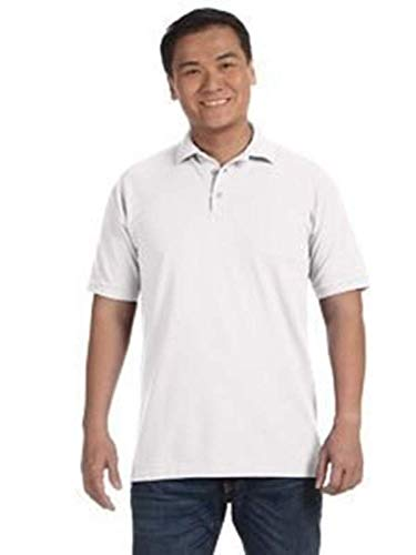 Anvil 6002 Adult Pique Polo - White, Extra ()