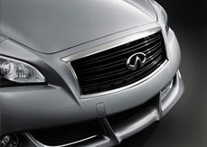Infiniti Nissan Genuine Factory Original OEM BLACK MIDNIGHT FRONT GRILLE ( GRILL ) - M37 - M56 - M35H - Y51 CHASSIS