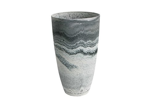 Outdoor Vase (Algreen 43429 Curved Vase Planter, Marble)
