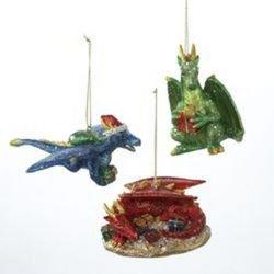 Dragon Christmas Ornaments (3