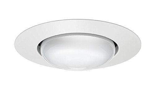 Juno Lighting Group 201N-WH Open Frame Recessed White Trim, 5-Inch, White Finish