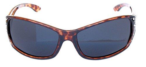 Moda Sol marco Diamantes de Polarizadas Femenina – Pastel Gafas Sport y Diseñador humo Imitación de de VOX Lente negro rojo 80pOx