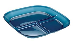 GSI Outdoors Infinity Divided Plate, Blue