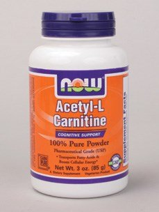 Acetyl-L Carnitine Pure Powder - 3 oz (85 Grams) by Now by NOW Foods