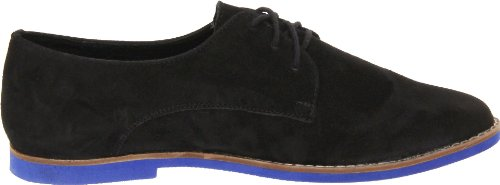 Steve Madden Womens Jazie Oxford Black Nubuck