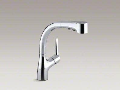 Kohler KR13963SDCP Elate Single-Handle Pull-Out Sprayer Kitchen Faucet, Polished Chrome