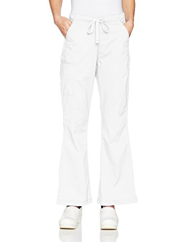 WonderWink Women's Grace-Flare Leg Cargo Pant, True White, Small