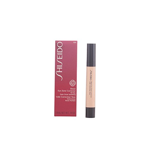 Shiseido Sheer Eye Zone Corrector for Women, No. 104 Natural Ochre, 0.14 Ounce by Shiseido