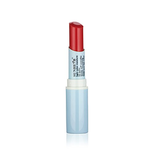 Sunherb Natural Moisturizing Tinted Lip Balm, temptation red, 1 Tube, Pack of 3