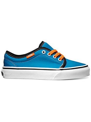 Vans  106 Vulcanized J, Jungen Sneaker Blau Blu/Nero/Arancio