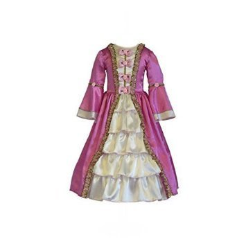 Marie Antoinette Costume Child (Marie Antoinette Costume Kids Historical World Book Day Fancy Dress Outfit Size 3-5 Years by Dress Up By Design)