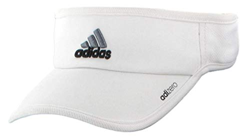 adidas Mens Adizero II Visor, White/Black/Sharp Grey, ONE SIZE