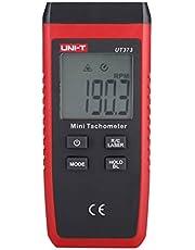 UNI-T UT373 Tacómetro Mini sin contacto Digital LCD del láser Tach Medidor de velocidad 10-99999RPM Cuentakilómetros