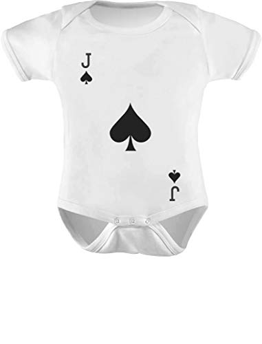 Jack Of Spades Costume (Tstars - Easy Halloween Costume Jack of Spades Playing Card Baby Bodysuit 6M (3-6M))