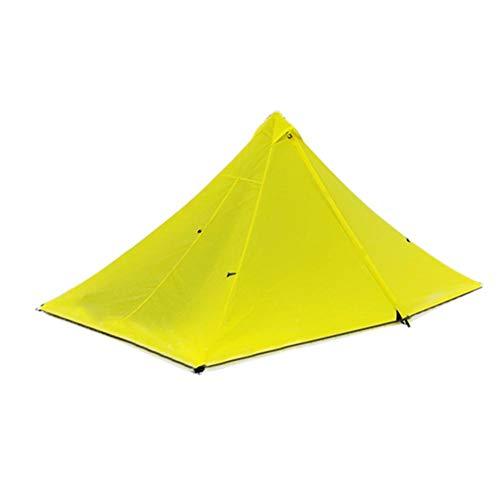 計画的トンネルくるみYunt テント 1人用 ピラミッド キャンプ用 超軽量 防水 虫よけ 通気性 四季通用 簡単組み立て 収納袋付き