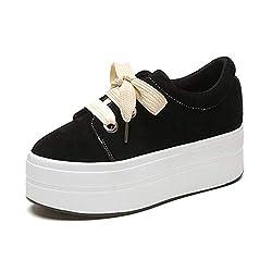 U Mac Women S Fashion Sneakers Suede Shoes Hidden Heel Height Increasing Casual Flats Shoes